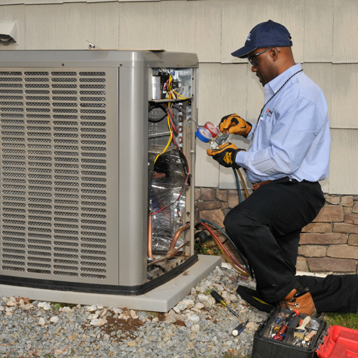 PSE&G Worryfree air conditioner repair person