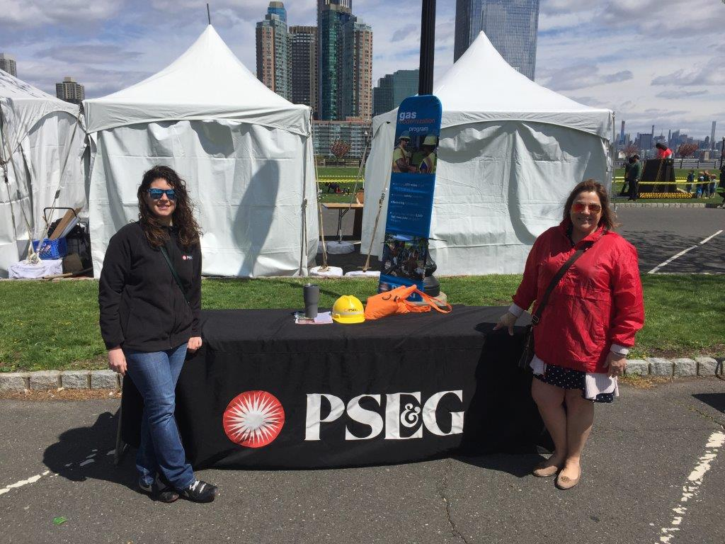PSE&G Gas Construction employees participating in  the Hudson County Earth day on April 27, 2019, in Liberty State Park, Jersey City, N.J.