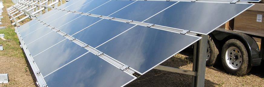 Solar panels as a photovoltaic array