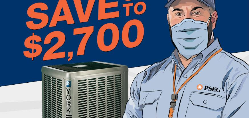 Save up to $2,700 with an A/C Replacement.