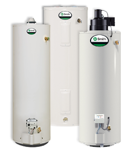 Three models of A.O. Smith hot water heaters